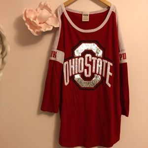 VS Pink Ohio State University Sequin Top